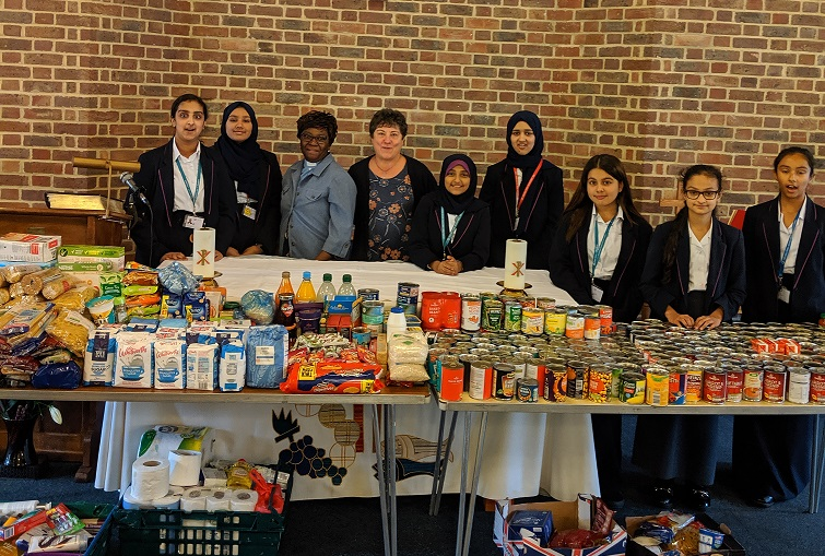 School teams up with St Andrew's Church for bumper harvest collection
